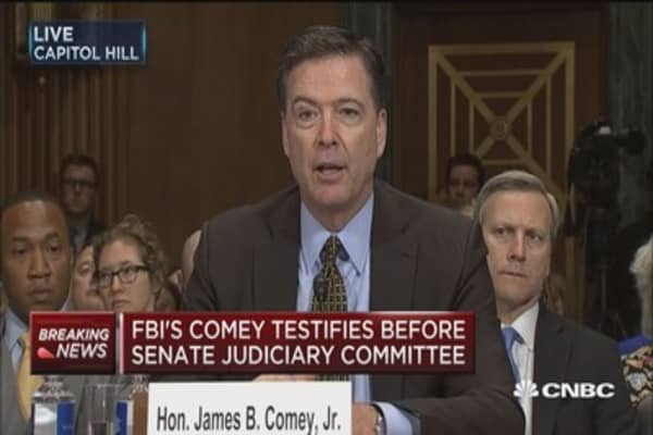 FBI's Comey testifies before Senate Judiciary Committee