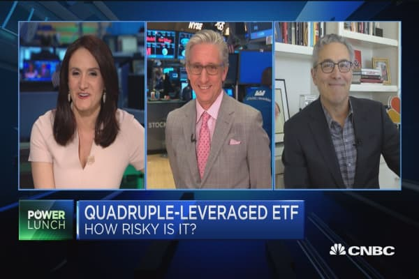 The new risky ETF: Quadruple-leveraged fund