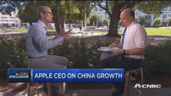 Apple CEO on China growth