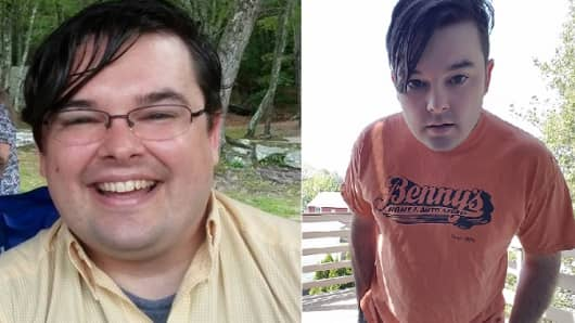 Will Brierly before and after 50 pound weightloss using VirZoom