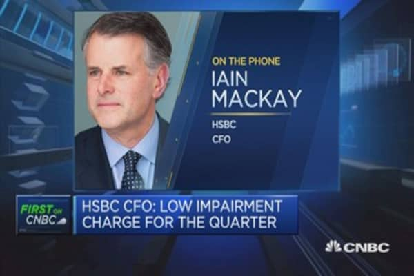 HSBC CFO: Find Q1 numbers reasonably encouraging