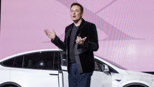 Elon Musk, chairman and chief executive officer of Tesla Motors