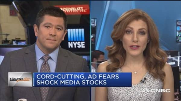 Cord-cutting, ad fears shock media stocks