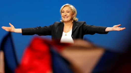 Marine Le Pen, the National Front candidate in France's 2017 presidential election