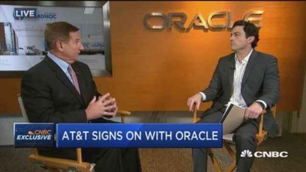 Oracle CEO on AT&T deal: Tremendous opportunity for collaboration