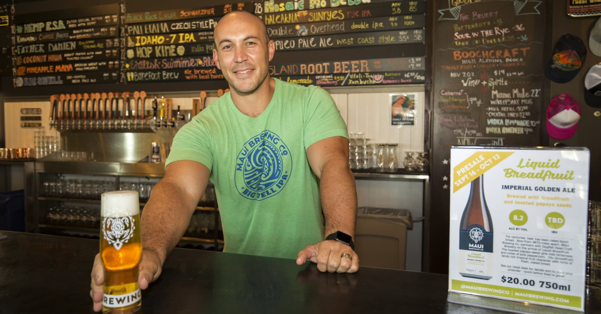 Garrett Marrero, co-founder of Maui Brewing Company
