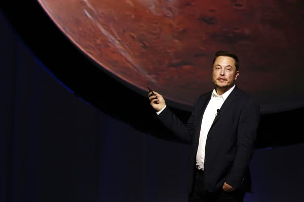 SpaceX CEO Elon Musk speaks during the 67th International Astronautical Congress in Guadalajara, Mexico.
