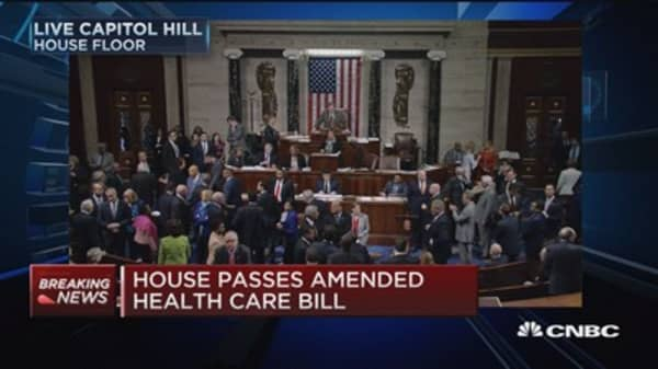 House passes amended health-care bill