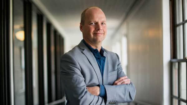 Sebastian Thrun, co-founder and chief executive officer of Udacity.