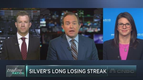 Scarcely sterling: Silver sets sad streak