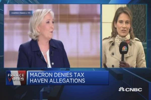 France's Macron denies tax haven allegations