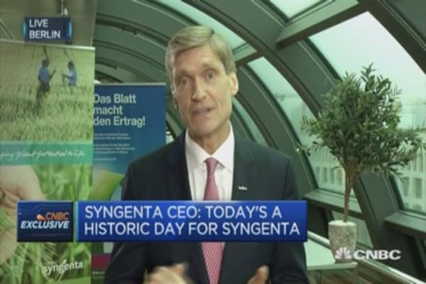 Today's a historic day for Syngenta, says CEO