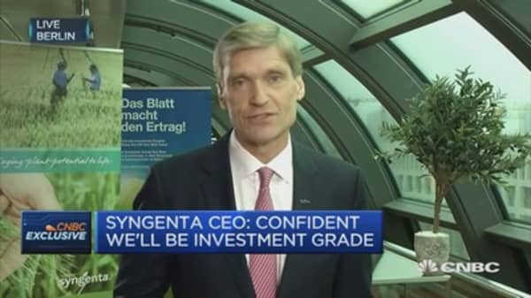 Syngenta CEO: Feeding world sustainably is very important