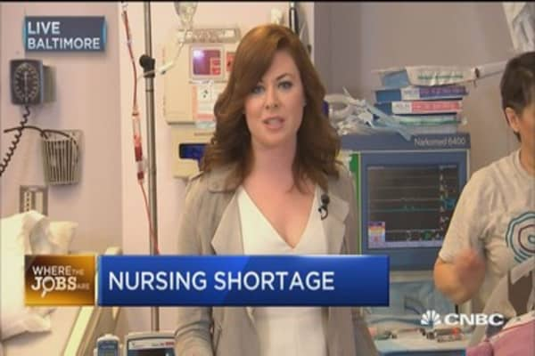 Where the jobs are: Nursing shortage