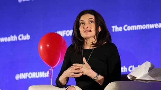 Sheryl Sandberg speaks about overcoming grief and resilience at a Commonwealth Club event in San Francisco.