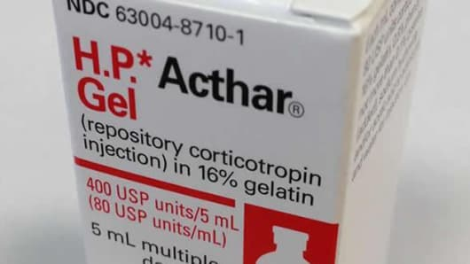 HP Acthar made by Mallinckrodt Pharmaceuticals is an anti-inflamatory medicine used by multiple sclerosis patients.