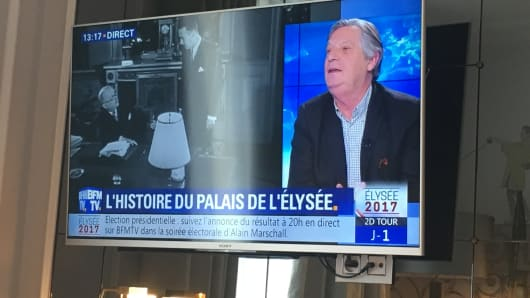 French media coverage of the 2nd round of the country's presidential vote.