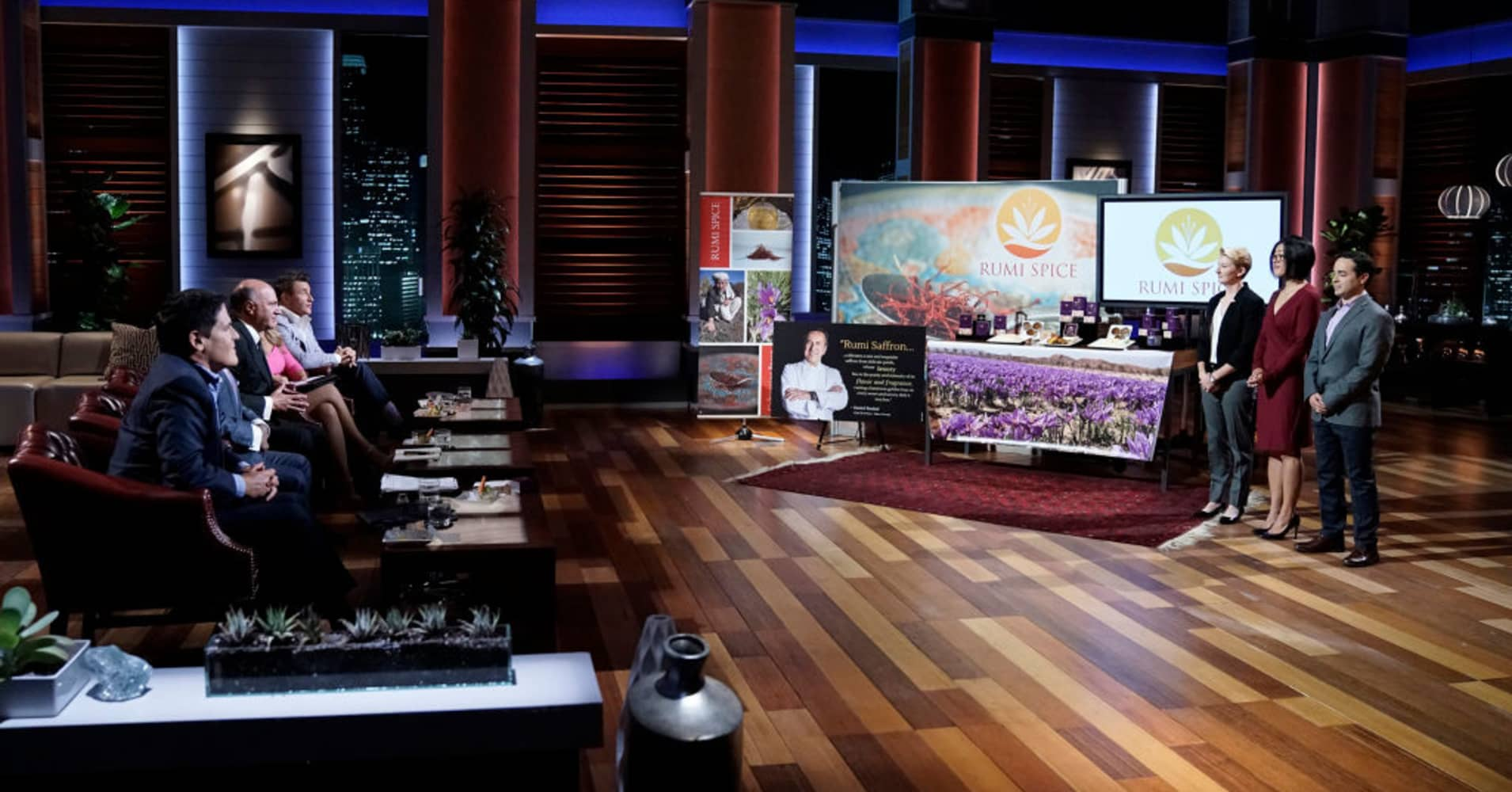 "Rumi Spice pitching on ""Shark Tank."""