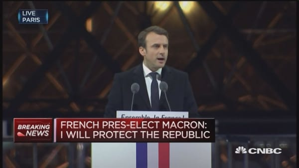 Europe and the world is looking at France: Macron