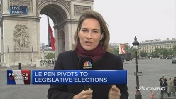 France's Le Pen pivots to legislative elections