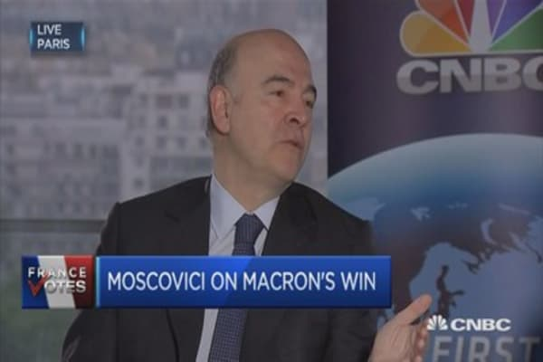 EU's Moscovici: Macron's win is very important for French values