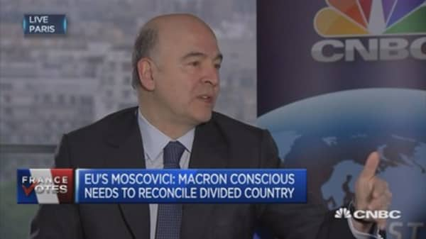 EU's Moscovici: First need to deal with Brexit, succeed in negotiations