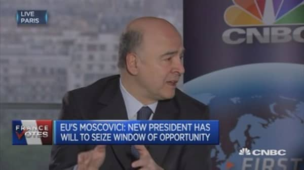 France needs to have sound public finances: EU's Moscovici