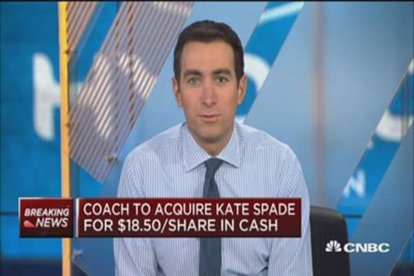 Coach to buy Kate Spade in deal worth $2.4B