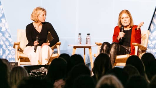 "Steinem was the keynote speaker at ""Create & Cultivate,"" a conference for female entrepreneurs, on Saturday, May 6 in New York City."