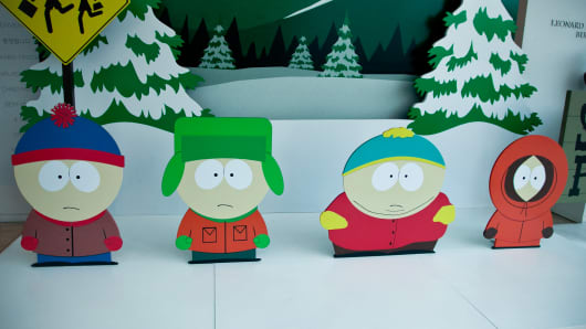 Stan Marsh, Kyle Broflovski, Eric Cartman and Kenny McCormick attend The Paley Center for Media presents special retrospective event honoring 20 seasons of 'South Park' at The Paley Center for Media on September 1, 2016 in Beverly Hills, California.