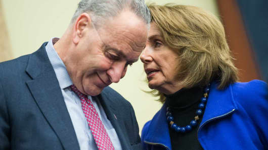 Senate Minority Leader Charles Schumer, D-N.Y., and House Minority Leader Nancy Pelosi, D-Calif.