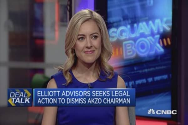 Elliot Advisors: Akzo rejection of PPG bid is a 'flagrant breach'