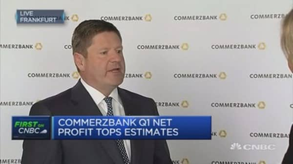 Don't think we will see ECB rates rising in the near future: Commerzbank CFO