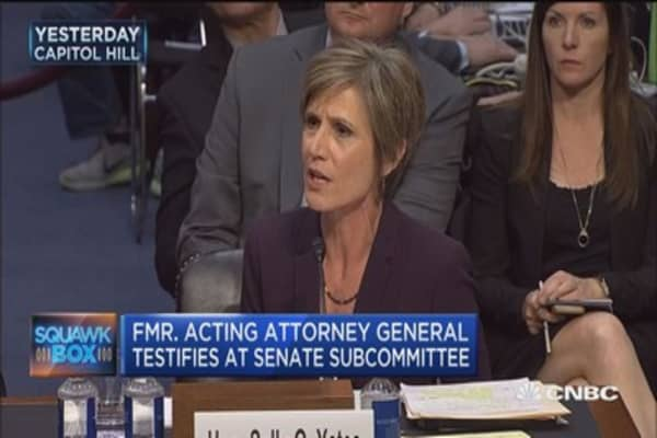Yates testifies 'compromise' first concern about Flynn and Russia