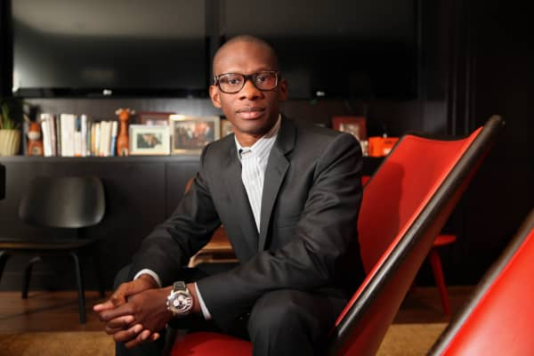 Troy Carter at the offices of Atom Factory, which he founded in 2010