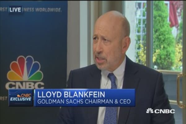 Blankfein: I don't know what brings us out of the doldrums