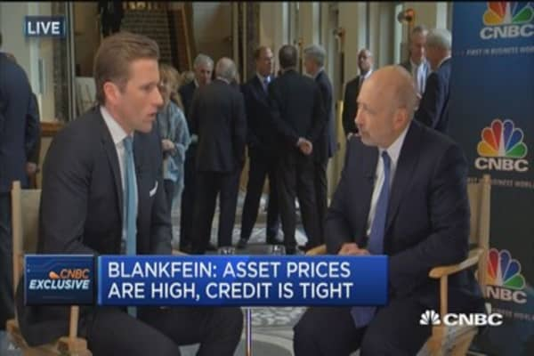Blankfein: US  banks are over-capitalized now