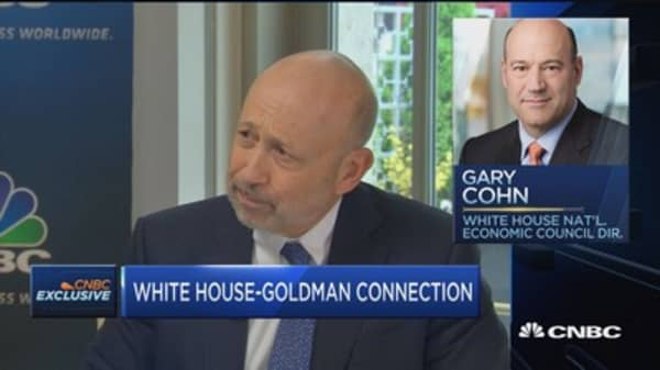 Blankfein: I have a sense of pride for GS alums in administration