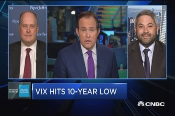 Trading Nation: VIX hits 10-year low