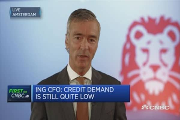 ING CFO: Rates below zero a problem for future