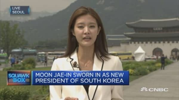 Moon Jae-in takes 41.1% of the vote in S Korea election