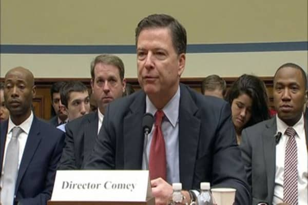 Trump's defending his decision to fire Comey