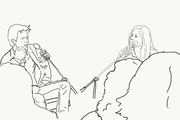 Kevin Bacon speaks to Anna Sale in NYC. Illustration by Charrow.