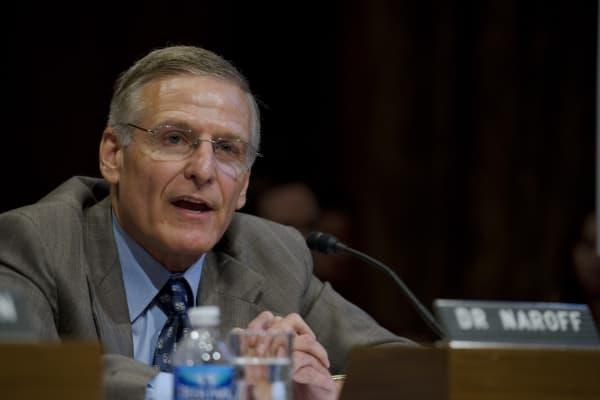 Joel Naroff, president and founder of Naroff Economic Advisors, during a Senate Budget hearing on the status of the U.S. economy.