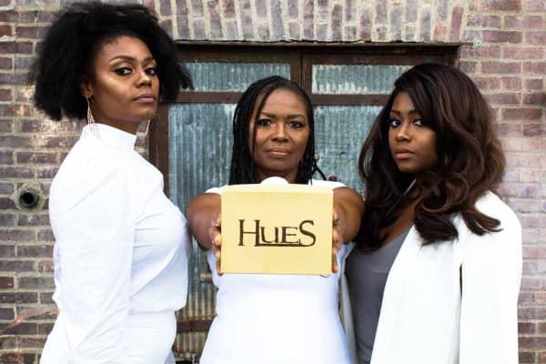 Huesbox founders Jasmine, Robin & Jenae Harris