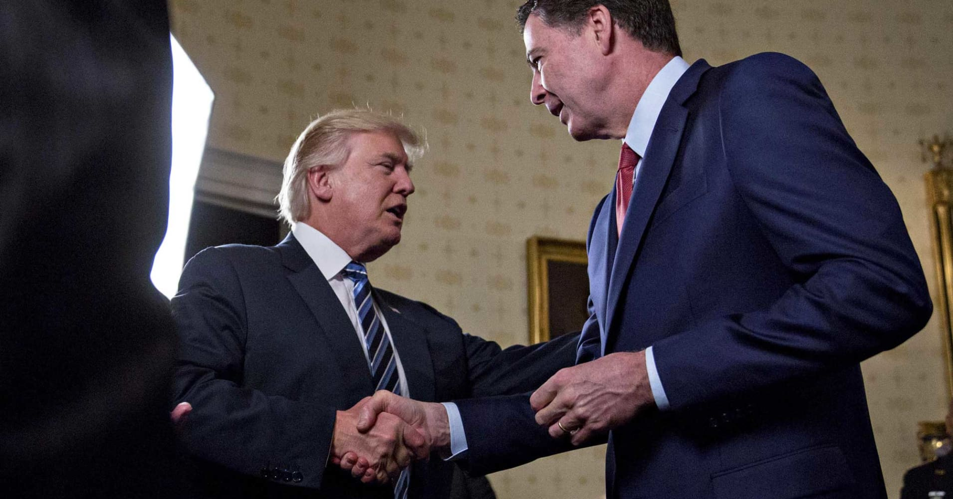 Former FBI Director James Comey calls President Donald Trump 'morally unfit to be president'