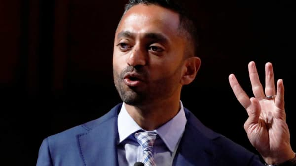 Chamath Palihapitiya, Founder and CEO of Social Capital, speaks during the Sohn Investment Conference in New York City, May 8, 2017.