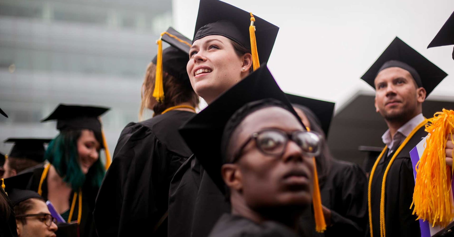 Students from the City College of New York at their graduation ceremony.