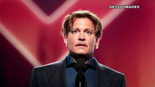 Johnny Depp making headlines off-screen