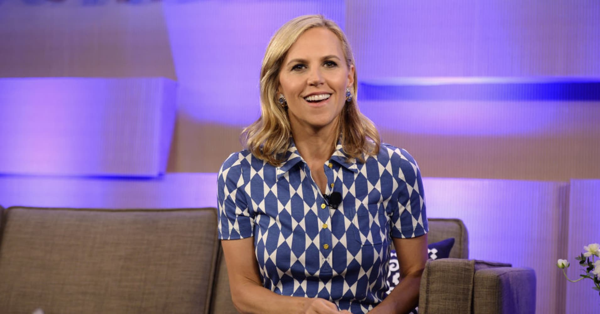 Tory Burch speaking at the Vanity Fair Founders Fair